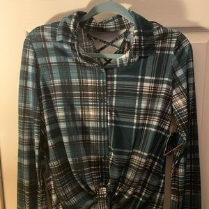 Almost Famous Green Flannel